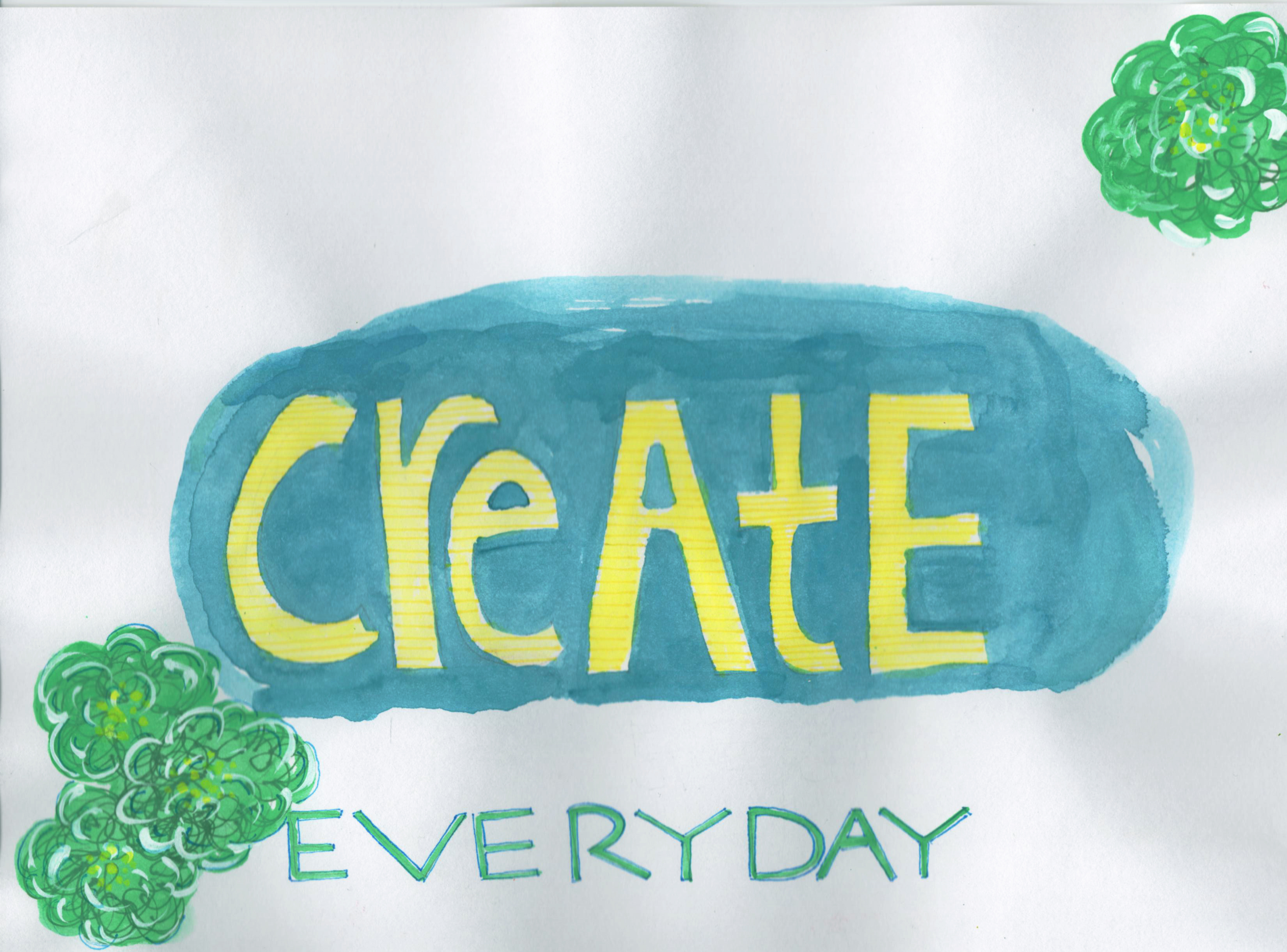 create every day painting