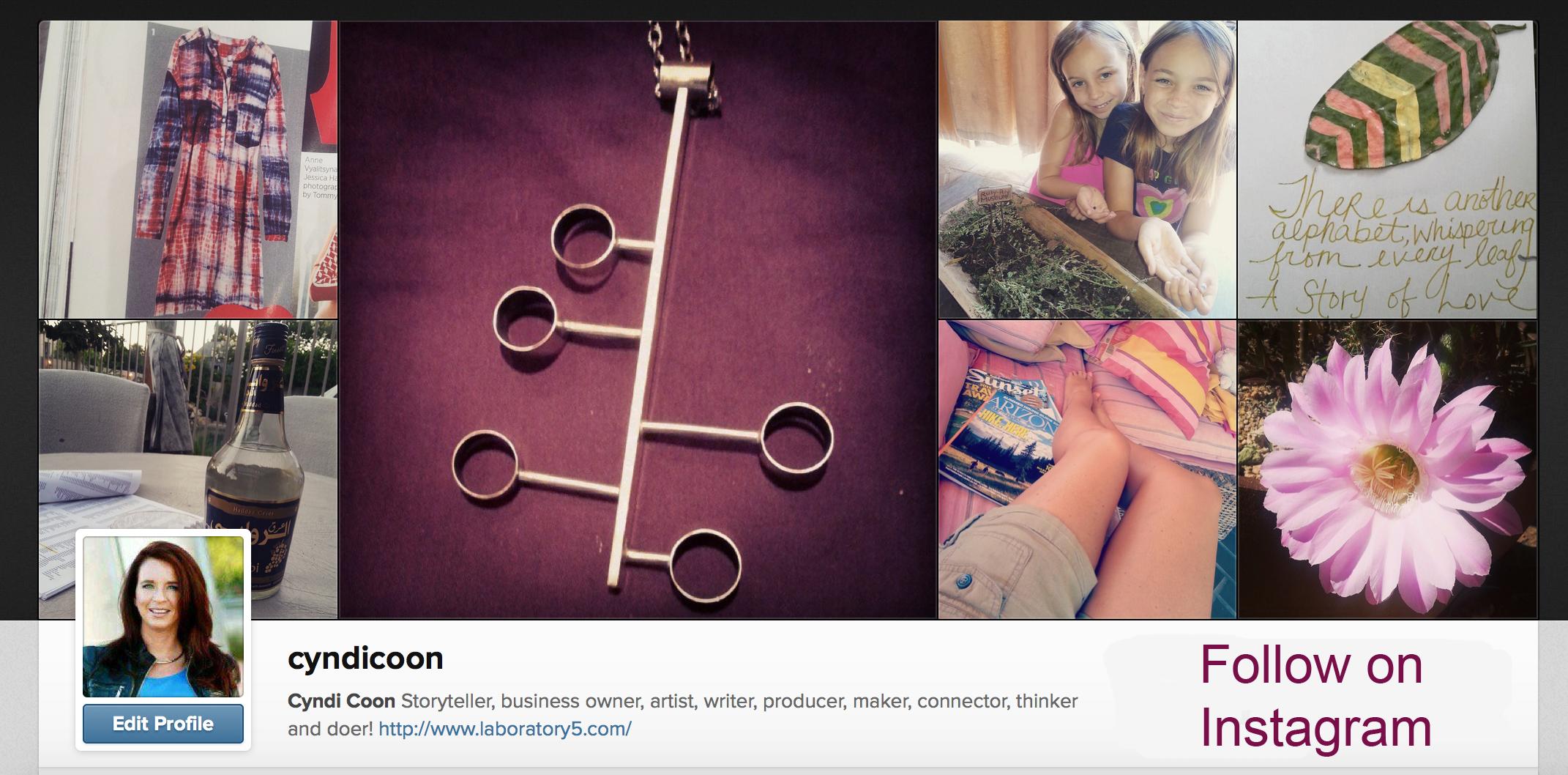 Instagram screen shot copy