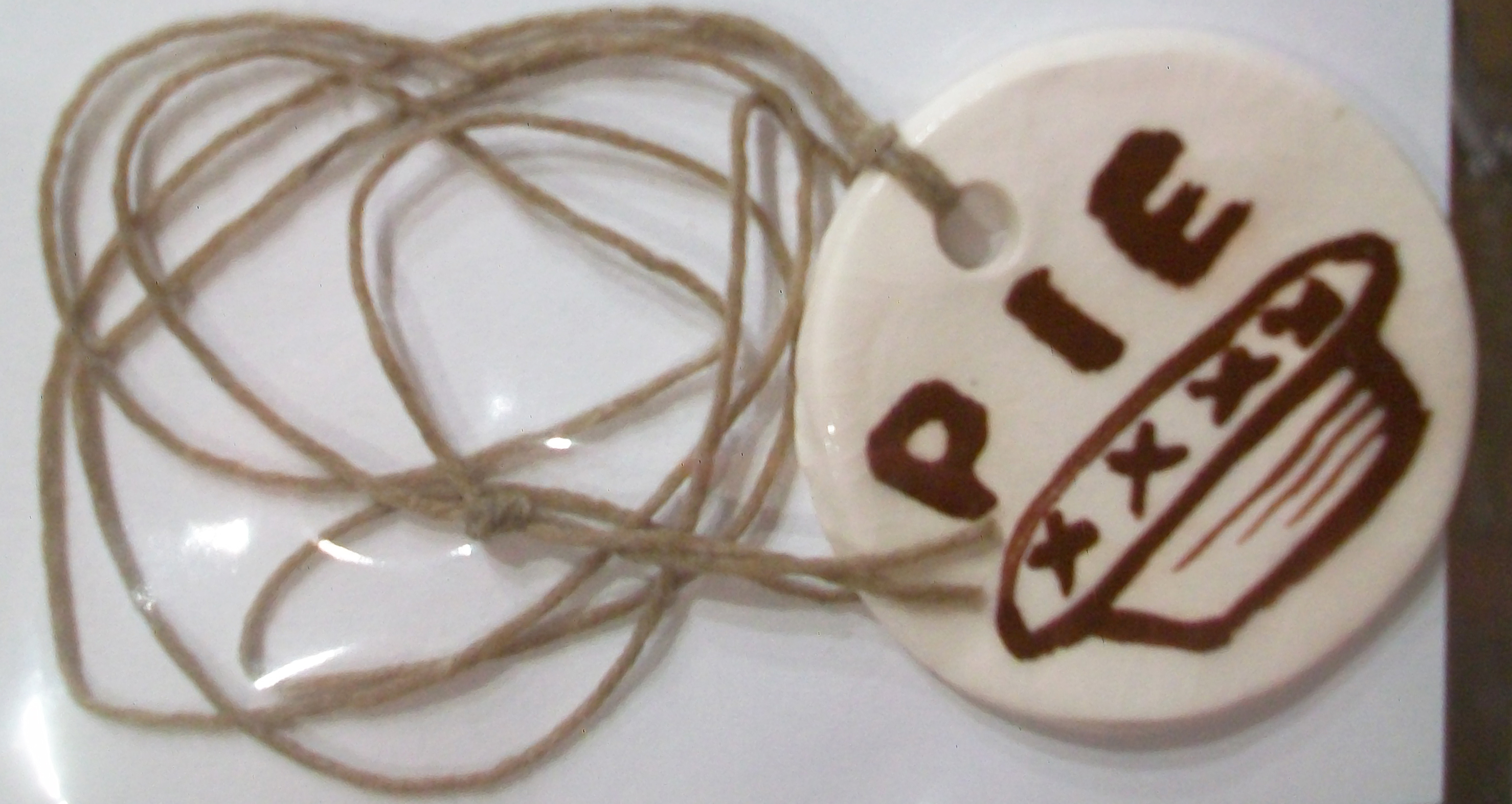 Ceramic Pie Necklace